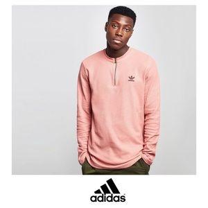 Men's Adidas Long Sleeve Zip Henley Thermal Shirt